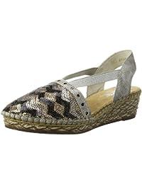 Rieker Damen 68978 Geschlossene Sandalen mit Keilabsatz