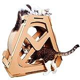 IW.HLMF Chat gratter Messages Planche Scratch Cat Exercice Roue Chat Arbre Escalade Maison en Cours d'exécution Spinning Toy pour Les Chats, Chat intérieur Centre d'activités,S