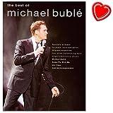The Best of Michael Bublé - Songbook für Klavier, Gesang, Gitarre mit bunter herzförmiger Notenklammer