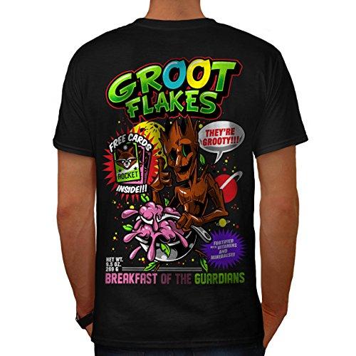 Weiblich Kostüm Groot (Groot Flakes Comic Müsli Held Herren M T-shirt Zurück |)