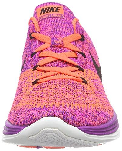 NikeFlyknit Lunar3 - Scarpe Running Donna Violett (Vivid Purple/Black-Hyper Orange)
