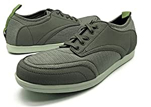 BackJoy Men's Standright Bliss Lace Shoes, Charcoal/White/Army Green - X Large (8.5-9.5 UK/India)