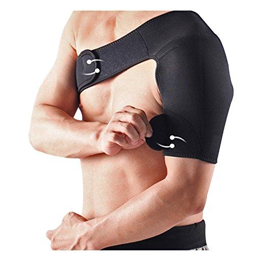 Lalawow Professioneller Verstellbarer Schulterschutz Schulterpolster Shoulder Pad Shoulder Protection für Fußball Badminton Basketball Baseball (Links)