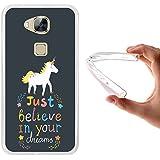 WoowCase - Funda Gel Flexible [ Huawei GX8 / G8 ] Frase Motivación - Just Believe in Your Dreams Carcasa Case Silicona TPU Suave