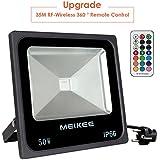 MEIKEE 50W Foco led exterior RGB en 16 opciones, 4 tipos de modos, iluminacion led exterior IP66, también conveniente para todas las clases de decoración en días lluviosos