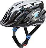 Alpina FB JR. 2.0 Flash Kinder Fahrradhelm - Black White Blue, Kopfumfang:50-55 cm
