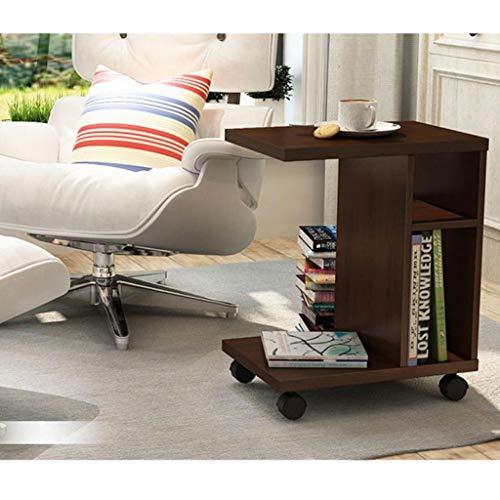 M-JH Table d'appoint, Sofa de côté Mobile d'extrémité de Table Basse de Table Basse Support d'ordinateur Portable roulettes en Bois de Stockage Trolly en Bois (Couleur : D)