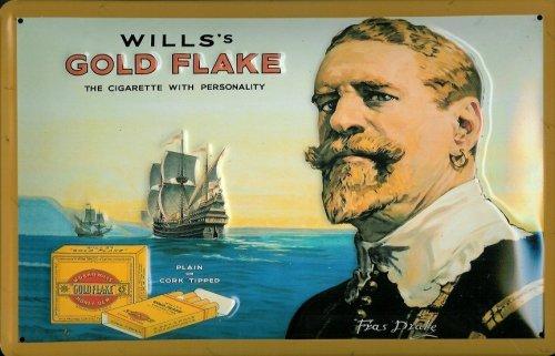 targa-in-metallo-nostalgico-will-s-gold-flake-sigarette-nave-cigarette-retro-vintage-segno-sigaretta