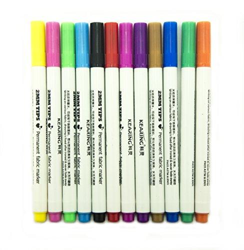 Hand® FM212 eine Reihe von 12 bunten Profiqualität dauerhaften Stoff Leder zeichnen Stifte -