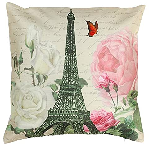 Faux Silk Cushion Cover / Throw Pillow Case 18x18 Inch