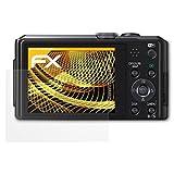 atFoliX Schutzfolie für Panasonic Lumix DMC-TZ40 Displayschutzfolie - 3 x FX-Antireflex blendfreie Folie