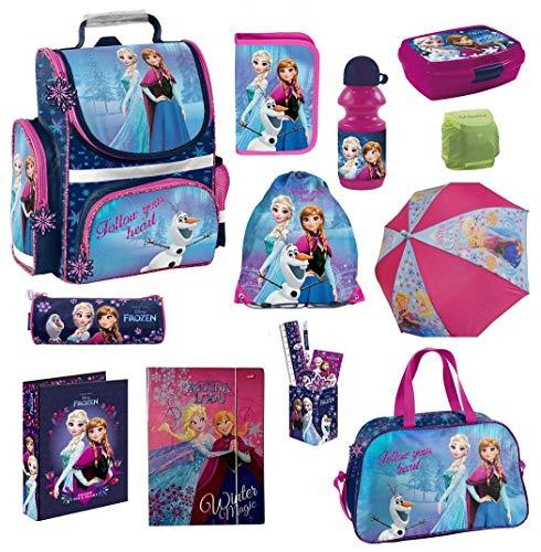 Disney die Eiskönigin Schulranzen-Set 17-TLG. Sporttasche Federmappe Regenschutz Frozen PL