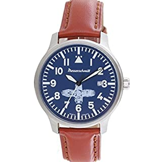 Aristo Mens-Watch Messerschmitt Watch Boxer- Watch ME-BOXER2 Leather