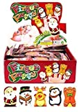 Guilty Gadgets ® Pack of 5 - Christmas Finger Puppets Santa Claus Snowman Penguin Reindeer Ginger Bread Man Baby Stories