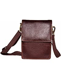 Tamanna Unisex Bombay Brown Colour Genuine Leather Sling Bag