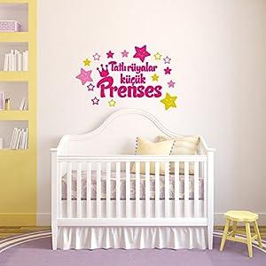 Wandtattoo Kinderzimmer Cocuk Odasi - Meccastyle - Tatli rüyalar kücük Prenses - A796