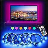 LED Strip InnooLight TV Hintergrundbeleuchtung LED-Streifen anpassbare Hintergrundbeleuchtung Lichterkette mit vielen Farben, Fernbedienung und USB betriebenem 2 Meter für TV, Desktop,Schreibtisch