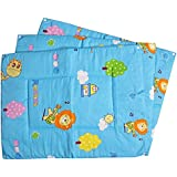Baby Station Premium Quality Multi Purpose Changeable Mat, Set Of 3 (Blue Animal Print)