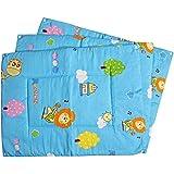 Baby Station Premium Quality Multi Purpose Changeable Mat, Set Of 3 (Blue Animal Print)