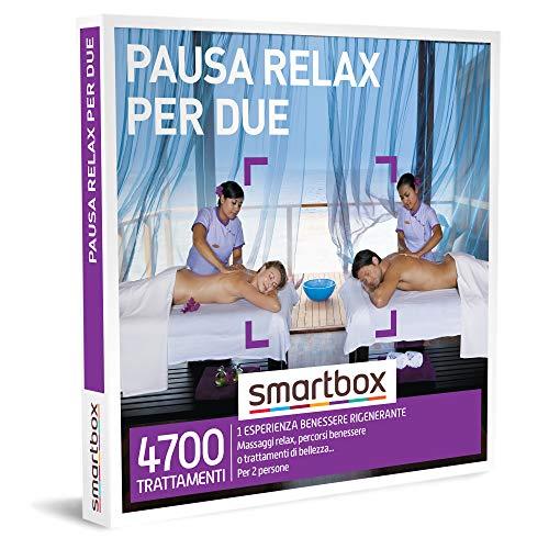 SMARTBOX - Cofanetto regalo coppia- idee regalo originale - Pausa relax per due liberarsi dallo stress