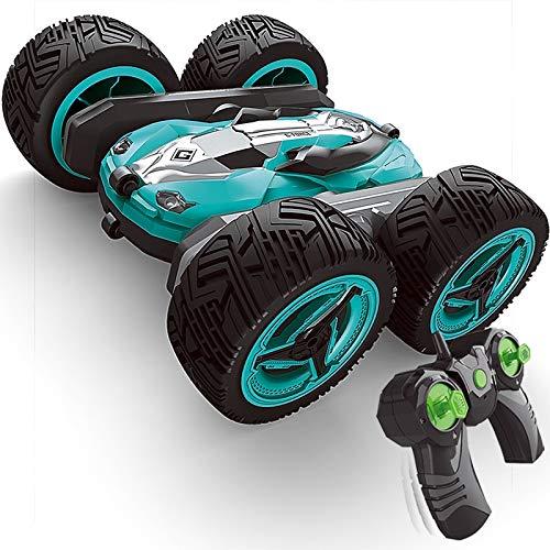 Tanktoyd 360 ° Stunt Double-Sided Auto Maxi-4WD Offroad-Fernbedienung Auto-Drift Trick Deformation RC Car gebührenpflichtiges Spielzeug Auto-Modell (Color : Blau)