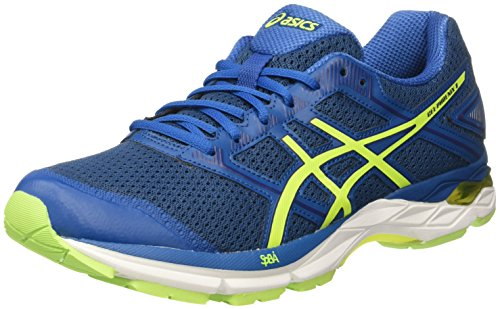ASICS Gel-Phoenix 8 Scarpe Running Uomo, Blu (Thunder Safety Yellow/Indigo Blue 4907), 42.5 EU