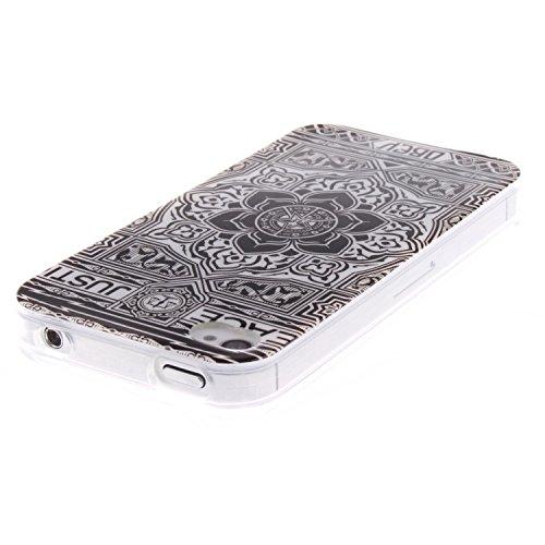 ZeWoo TPU Schutzhülle - TX002 / Eine bunte Eule - für Apple iPhone 4 4G 4S Silikon Hülle Case Cover TX005 / Frieden und Gerechtigkeit