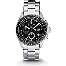 Fossil CH2600 - Reloj analógico de cuarzo para hombre con correa de acero inoxidable, color plateado