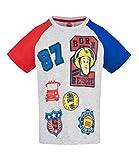 Feuerwehrmann Sam Jungen T-Shirt (Grau, 104)