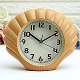Stiller Alarm Mode Persönlichkeit Schüler Kind Shell Nachtuhr Nummer Kleine Uhr,Brass