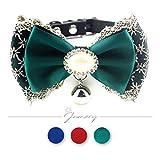 Jamory Hundehalsband Halsband Halskragen Hund Hochzeit Deko Geschenk mit Schleife Anhänger Prinzessin S M (M, Armee grün)