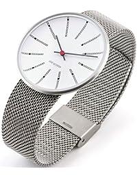 Rosendahl Unisex-Armbanduhr Arne Jacobsen Analog Quarz Edelstahl 1010399210