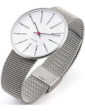 Rosendahl Unisex-Armbanduhr Arne Jacobsen Analog Quarz Edelstahl 43424
