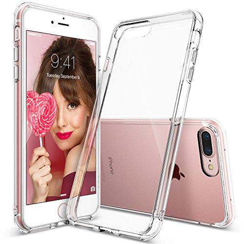 Custodia iPhone 7 Plus, Ringke [FUSION] Crystal Clear PC Back TPU [Goccia di protezione / assorbimento di scossa Tecnologia] alzata della calotta di protezione Mascherine per Apple iPhone 7 Plus - Crystal View