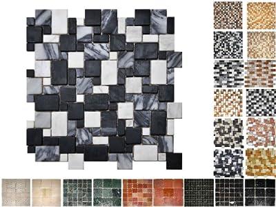 1 QM Marmor Mosaik San Remo Opus von Mosaikdiscount24 bei TapetenShop