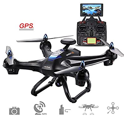 Hanbaili X183 Drone with 1080P Camera Live video and GPS Return Home?Stunt Rolling,GPS Voyage Function,GPS Automatically Follow,Anti-jamming Motors Drone with Headless Mode for Kids by Cewaal