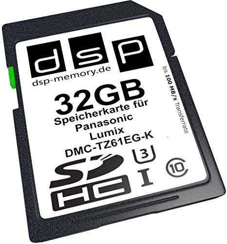 32GB Ultra Highspeed Speicherkarte für Panasonic Lumix DMC-TZ61EG-K Digitalkamera