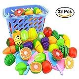 KAGADS Gemüse 23 Stücke/Set kinder Schneiden Gemüse Frucht Spielzeug Kunststoff Küche Essen Kinder Küche Spielzeug