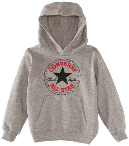 Preisvergleich Produktbild Converse Chuck Patch Logo Pullover mit Kapuze - Vintage Grau Heather