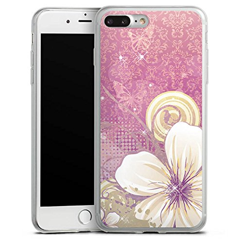 Apple iPhone 8 Slim Case Silikon Hülle Schutzhülle Blüten Blumen Ornamente Silikon Slim Case transparent
