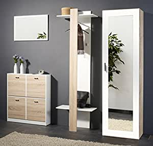expendio 44849056 garderoben set 4 teilig mdf spannplatte wei 35 x 190 x 195 cm. Black Bedroom Furniture Sets. Home Design Ideas