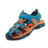 Yujeet Jungen-Mädchen Sommer Anti-Rutsch Strand Schuhe Baotou Klettverschluss Schuhe Malachit Grün 29