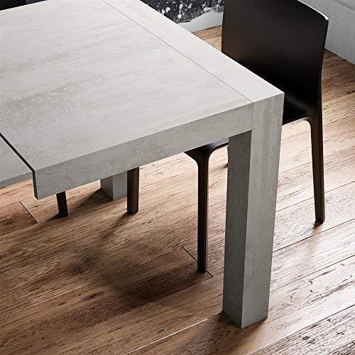 Mobilifiver Tavolo Allungabile Cucina, Iacopo, Frassino Bianco, 140 x 90 x  77 cm, Nobilitato, Made in Italy, Disponibile in Vari Colori
