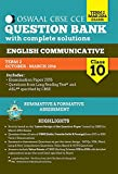 Oswaal CBSE CCE Question Banks With Complete Solution For Class 10 Term-II (October To March 2016) English Communicative