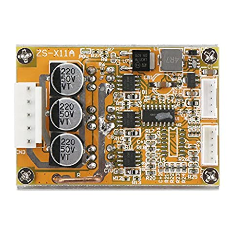 DROK® DC 5 ~ 36V 15A Brushless Motor Controller 3-phase 350W High-power Hall Motor Drive Board 5-fils Hall Control Speed Switch Modulator Radiateur intégré