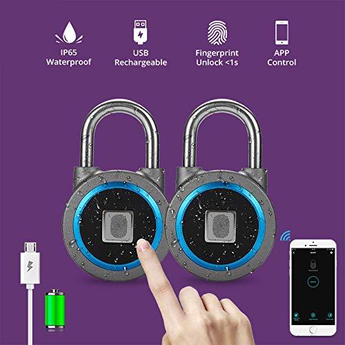 XULINGKE Cerradura inteligente Portátil inteligente a prueba de agua cerradura sin llave teléfono...