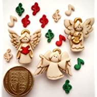 Angeli in coro, natalizia & Craft Novelty-Bottoni decorativi Dress It Up by