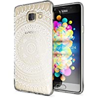 Samsung Galaxy A3 2016 Coque Protection de NICA, Housse Motif Silicone Portable Premium Case Cover Transparente, Ultra-Fine Souple Gel Slim Bumper Etui pour A3-16, Designs:Mandala Blanc