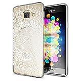Samsung Galaxy A3 2016 Coque Protection de NALIA, Housse Motif Silicone Portable Premium Case Cover Transparente, Ultra-Fine Souple Gel Slim Bumper Etui pour A3-16, Designs:Mandala Blanc