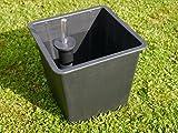 Premium-Pflanzeinsätze aus Kunststoff mit BEWÄSSERUNGSSYSTEM L34,5X B34,5X H31cm für Fiberglaskübel, Pflanzkübel, Einsatz, Inlet, Blumenkübel, Pflanzgefäße